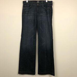 7 For All Mankind Dojo Wide Leg Jean in Dark Wash